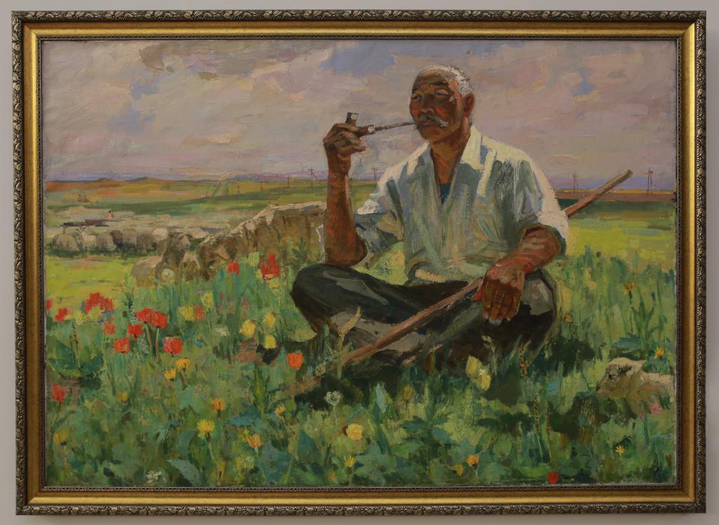Ольдаев К.М. «Хозяин степи» 1964 г. Холст, масло.