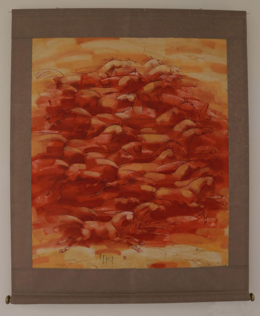 Поваев А. «Табун» 2012 г. Холст, масло.