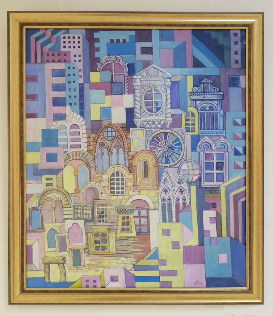 Сангаджиева Д. «Окна» 2005 г. Холст, масло.